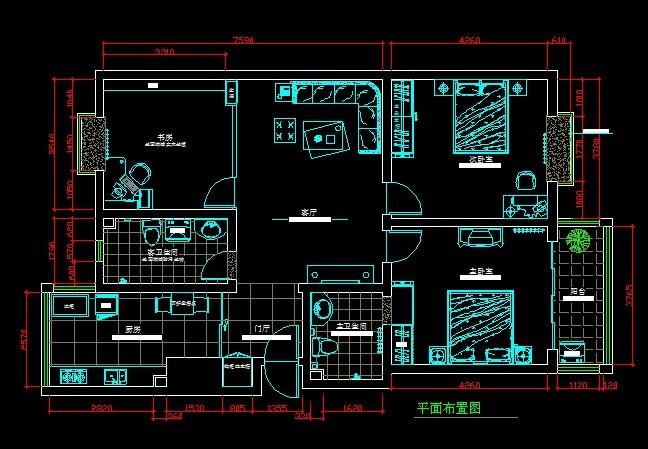 室内cad手绘平面图